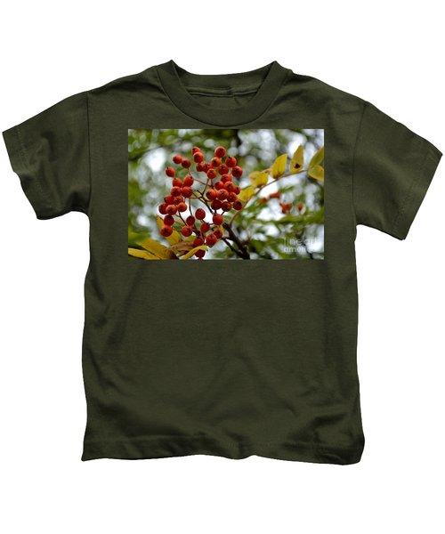 Orange Autumn Berries Kids T-Shirt