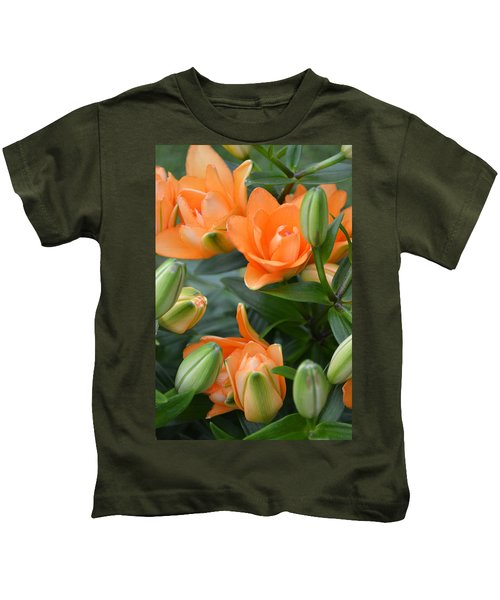 Orange Lily Kids T-Shirt