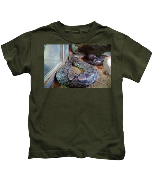 Out Of Africa  Black Snake Kids T-Shirt