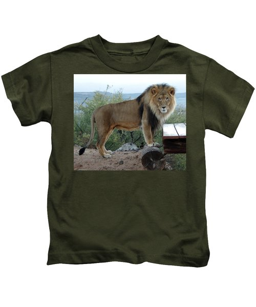 Out Of Africa  Lion 1 Kids T-Shirt