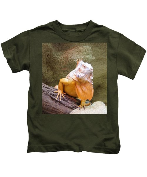 Out Of Africa Orange Lizard 1 Kids T-Shirt