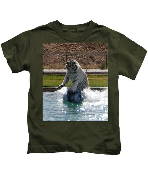 Out Of Africa Tiger Splash 1 Kids T-Shirt