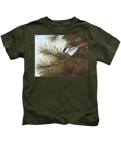 Out On A Limb Kids T-Shirt by Rick Bainbridge
