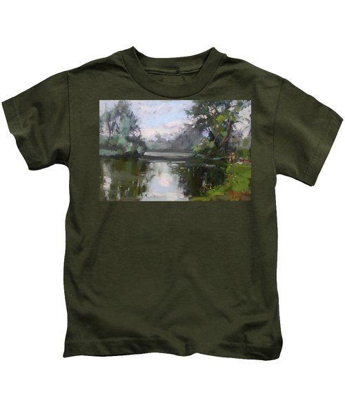 Outdoors At Hyde Park Kids T-Shirt by Ylli Haruni