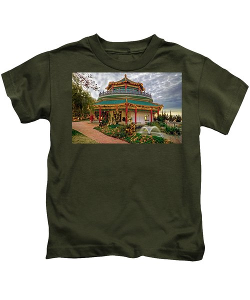 Pagoda In Norfolk Virginia Kids T-Shirt