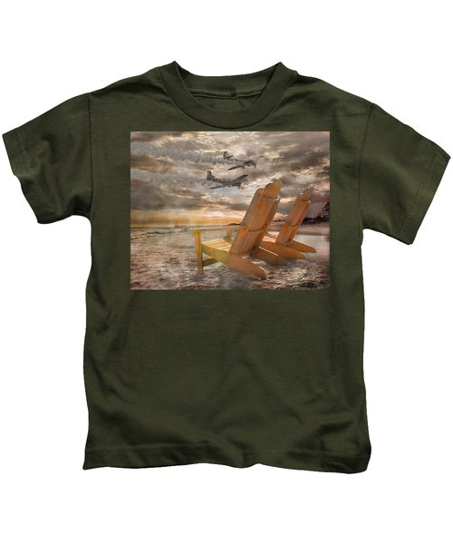 Pairs Along The Coast Kids T-Shirt