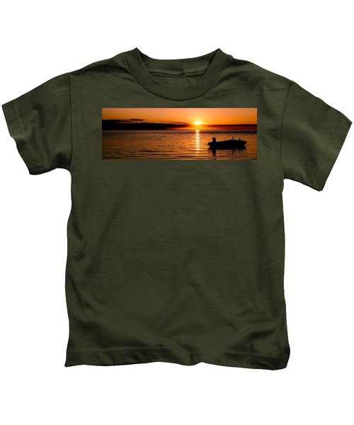 Panoramic Photo Of Sunrise At Monkey Mia Of Australia Kids T-Shirt