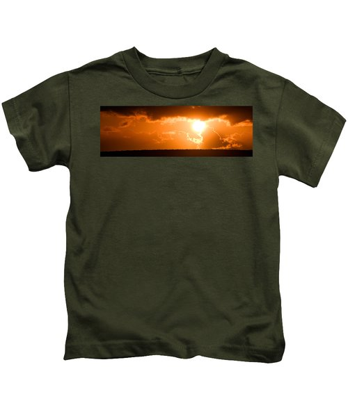 Panoramic Photo Of Sunset At Monkey Mia  Kids T-Shirt