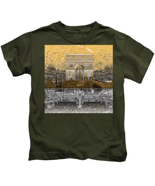 Paris Skyline Landmarks 5 Kids T-Shirt