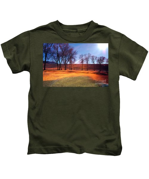 Park In Mcgill Near Ely Nv In The Evening Hours Kids T-Shirt