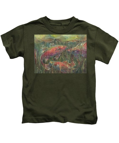 Party Under The Lily Pads Kids T-Shirt