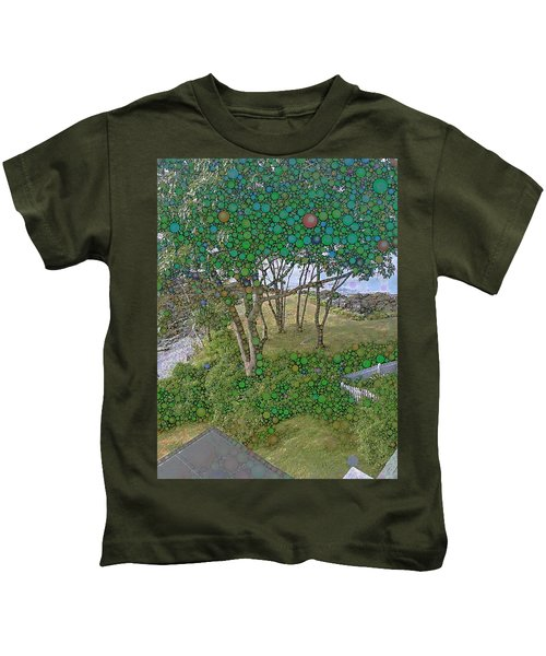 Dawn At Peaks Island Bay Kids T-Shirt