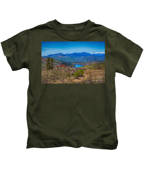 Perrygin Lake In The Methow Valley Landscape Art Kids T-Shirt