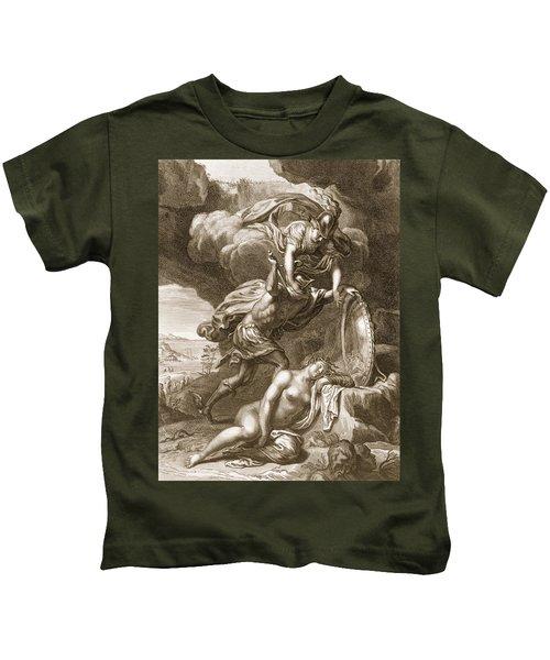 Perseus Cuts Off Medusas Head, 1731 Kids T-Shirt by Bernard Picart