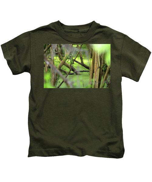 Green Water At Brazos Bend State Park In Texas Kids T-Shirt