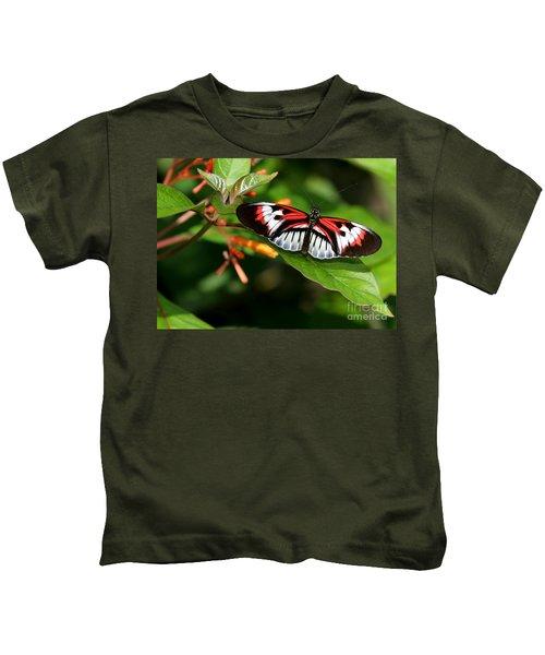 Piano Key Butterfly On Fire Bush Kids T-Shirt