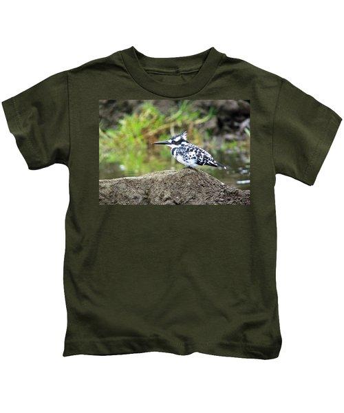 Pied Kingfisher Kids T-Shirt