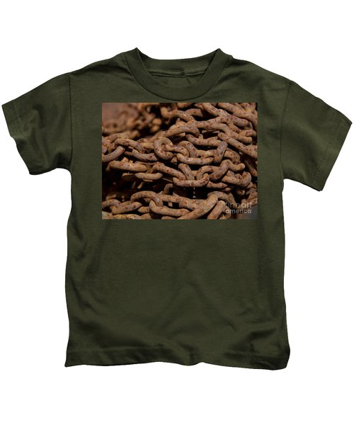 Pile Of Rusty Chains Kids T-Shirt