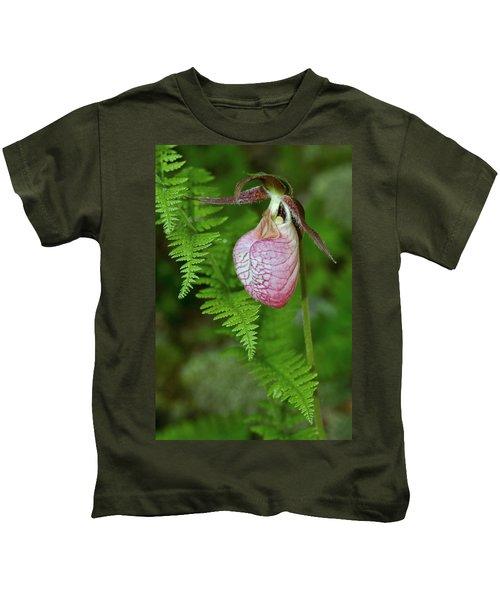 Pink Lady Slipper Kids T-Shirt