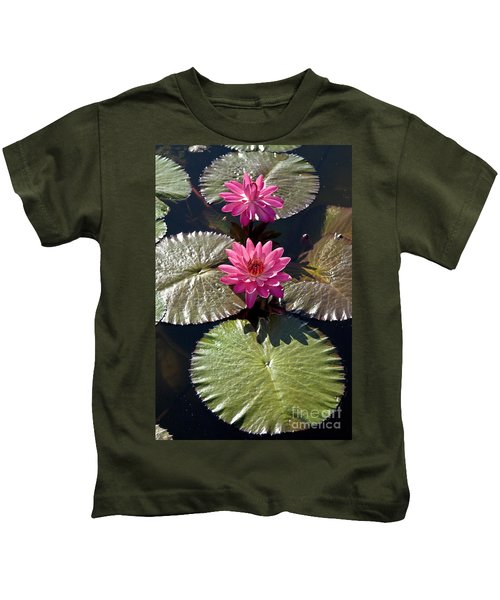 Pink Water Lily IIi Kids T-Shirt