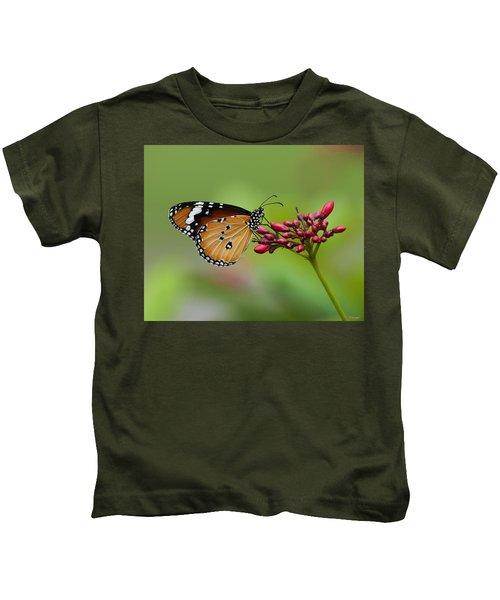 Plain Tiger Or African Monarch Butterfly Dthn0008 Kids T-Shirt