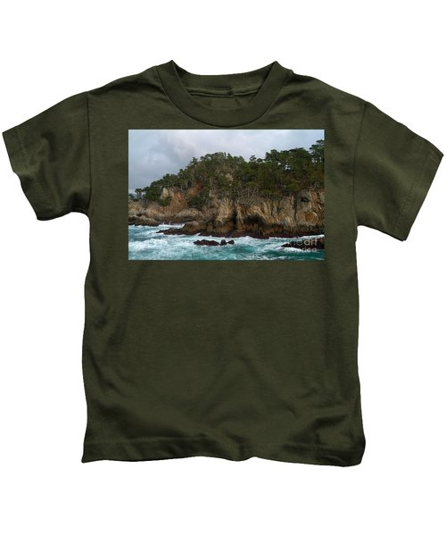 Point Lobos Coastal View Kids T-Shirt