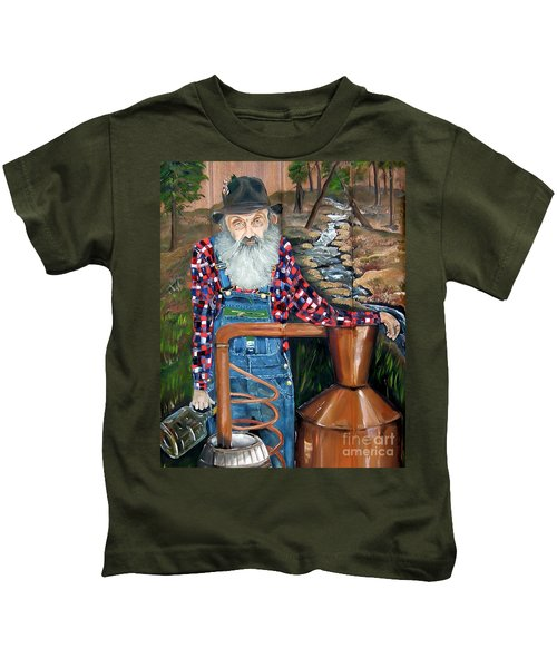 Popcorn Sutton - Bootlegger - Still Kids T-Shirt