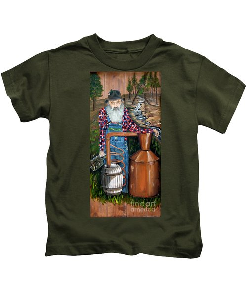 Popcorn Sutton - Moonshiner - Redneck Kids T-Shirt