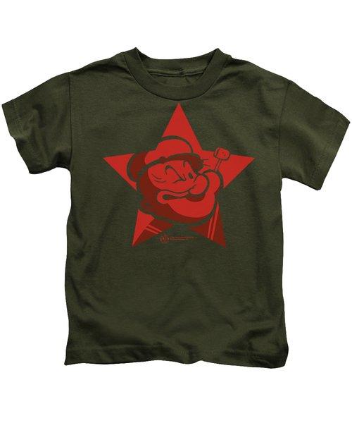 Popeye - Red Star Kids T-Shirt