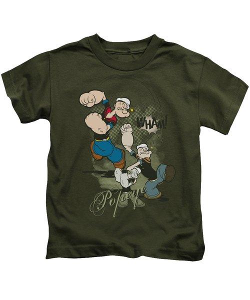 Popeye - Three Part Punch Kids T-Shirt