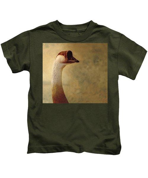 Portrait Of A Goose Kids T-Shirt