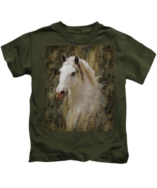 Portrait Of A Horse God Kids T-Shirt