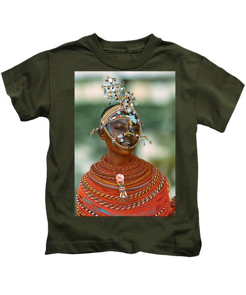 Portrait Of A Teenage Girl Smiling Kids T-Shirt