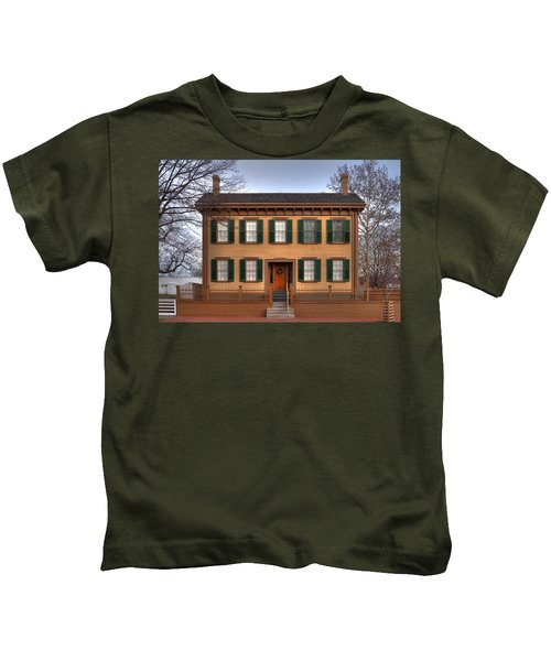 President Lincoln Home Springfield Illinois Kids T-Shirt