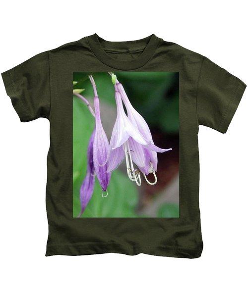 Purple And White Fuchsia Kids T-Shirt