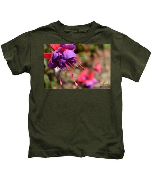 Purple Fuchsia Kids T-Shirt