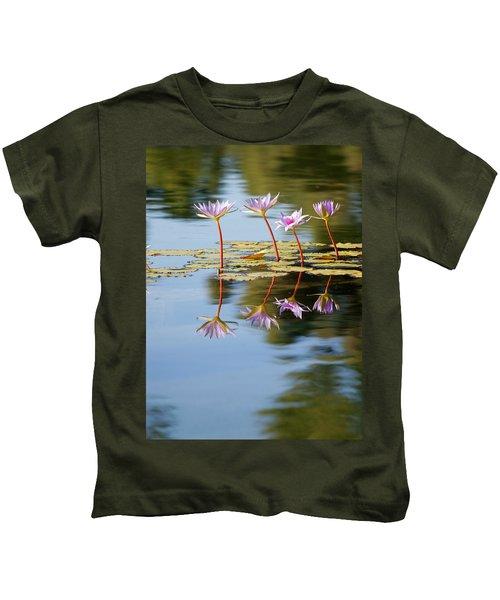 Purple Lillies Kids T-Shirt