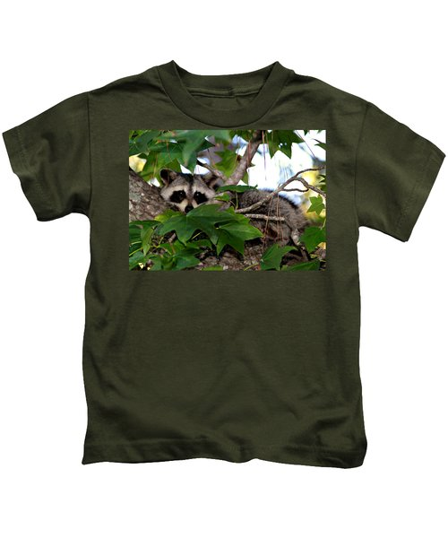 Raccoon Eyes Kids T-Shirt