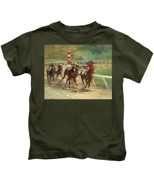 Race Horses Kids T-Shirt