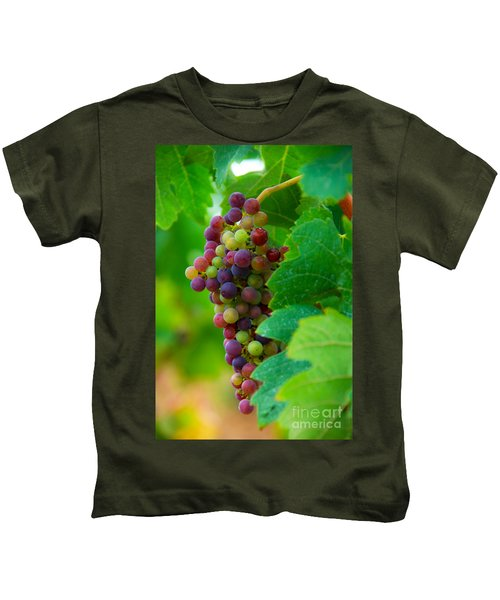 Red Grapes Kids T-Shirt