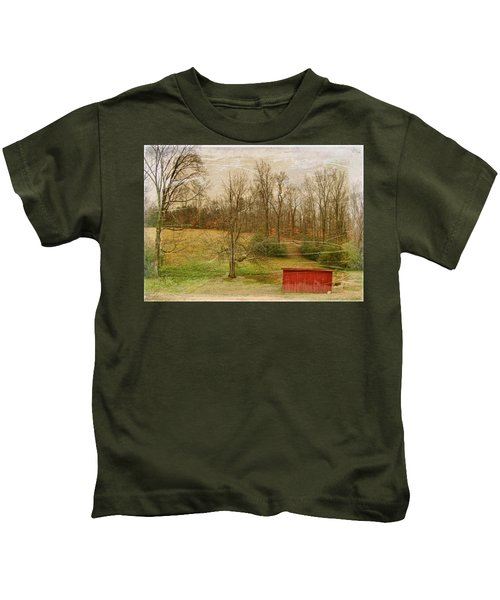 Red Shed Kids T-Shirt by Paulette B Wright