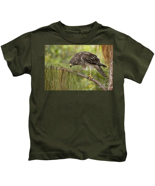 Red Shouldered Hawk Photo Kids T-Shirt