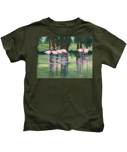 Reflections In Pink Kids T-Shirt