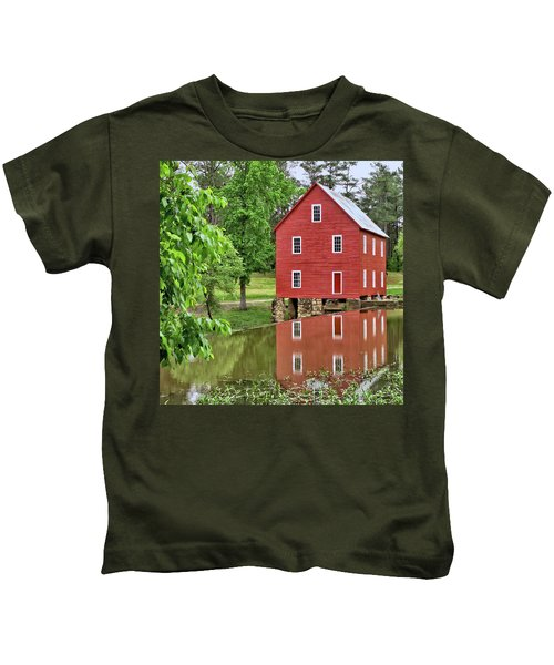 Reflections Of A Retired Grist Mill - Square Kids T-Shirt