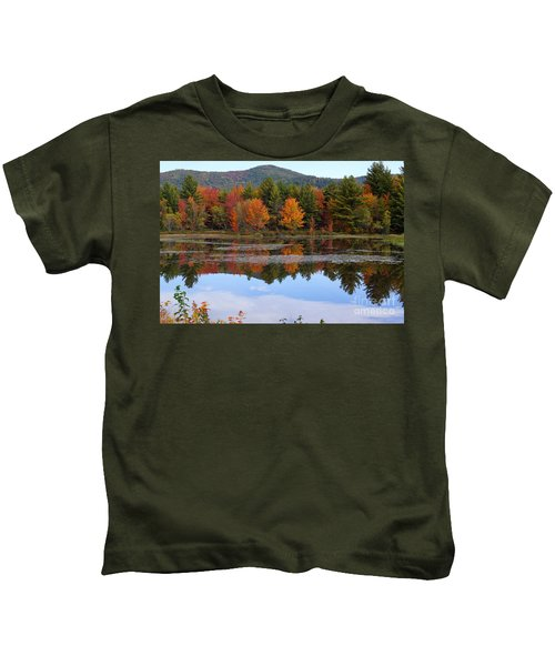 Reflections Of Fall Kids T-Shirt