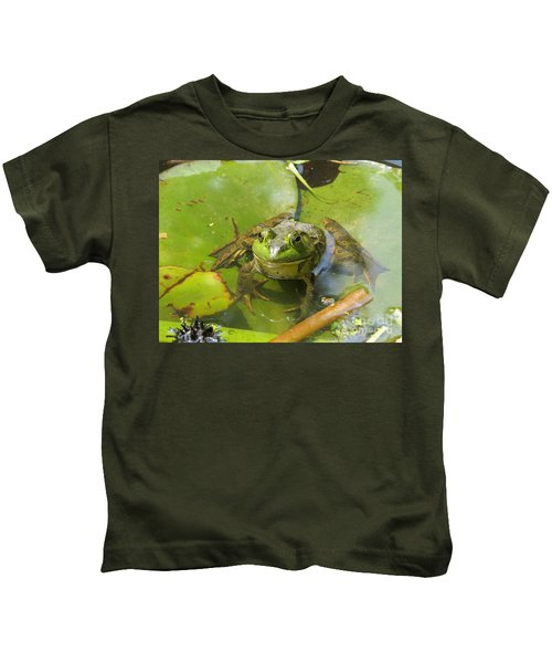 Relaxing On A Lily Pad  Kids T-Shirt