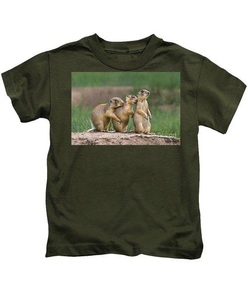 Relaxing Utah Prairie Dogs Cynomys Parvidens Wild Utah Kids T-Shirt
