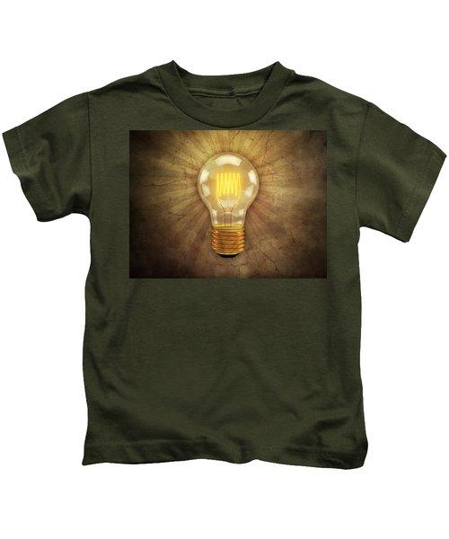 Retro Light Bulb Kids T-Shirt