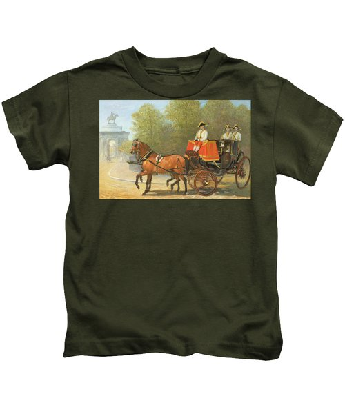 Returning From Her Majestys Drawing Room Kids T-Shirt by Alfred Corbould