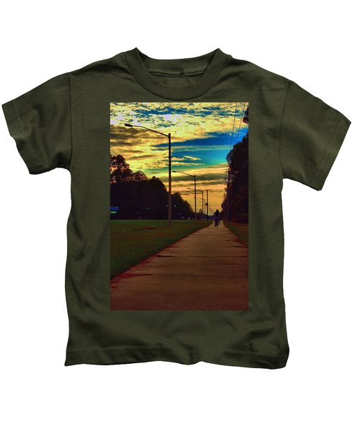Riding Into The Sunset Kids T-Shirt